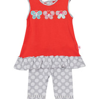 Jersey Tunic with Polka Dot and Leggings