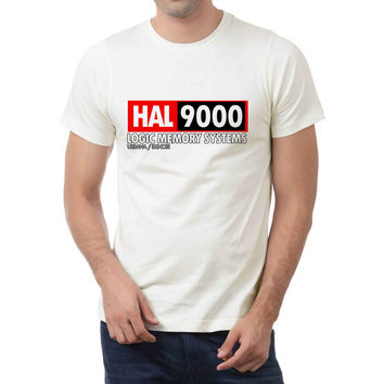 Hal 9000 Logic Memory Systems 2 Mens T-shirt Black and White