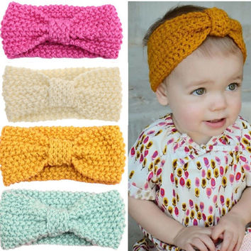 Baby Girl Knit Crochet Turban