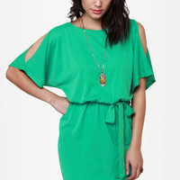 What a Looker Cutout Teal Dress