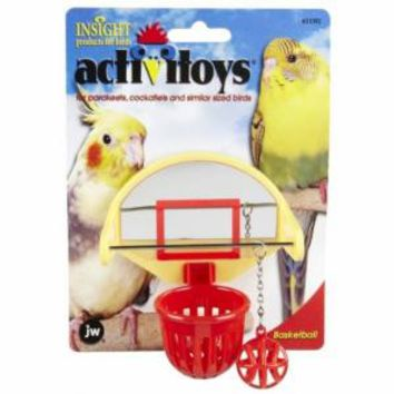 JW Pet Insight Activitoys Birdie Basketball