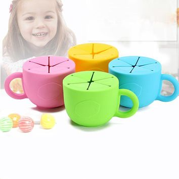 Snack Anti-Spilled Silicone Cup Leak-Proof Baby