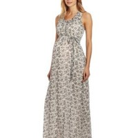 Ingrid & Isabel Women's Maternity Floral Print Maxi Dress