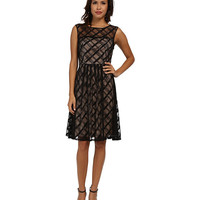 Adrianna Papell Sweetheart Plaid Lace Dress