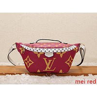 LV Louis Vuitton Fashion Leather Waist Bag Satchel Single Shoulder Bag