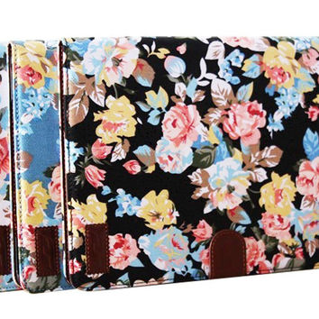 beautiful floral cloth Samsung P600 creative case cover wallet