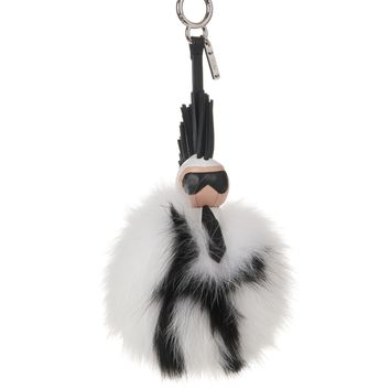 Super Karlito pompom fox-fur bag charm | Fendi | MATCHESFASHION.COM US