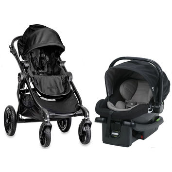 Baby Jogger City Select Travel System Stroller w City Go Infant Car Seat Black