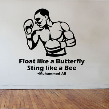 Boxing wall decall Decal Sticker Art Decor Bedroom Design Mural boys room boxer sport fitness health