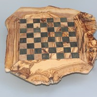 Wooden Rustic Chess Set, Custom Olive Wood Chess Board, Wooden Chess Set Game, Dad gift, Birthday Gift