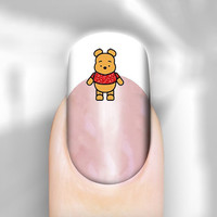 Nail Art Decal Winnie Pooh n Piglet Transfer Set of 30 Images Adult Kid Sz