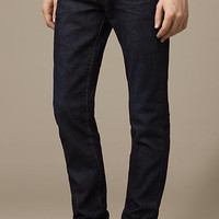 Slim Fit Resinated Jeans
