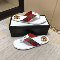 Gucci White Men Flip Flop Beach Sandal Slipper