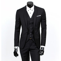 Three-Piece Suit New Fashion Men Suits Custom Made Wedding Groom Suits For Men Brand Tuxedo Multi-color Slim Fit Business Suit
