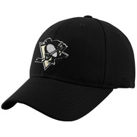Reebok Pittsburgh Penguins Black Basic Logo Wool Blend Adjustable Hat