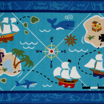 Fun Rugs Olive Kids Collection Pirates! Area Rug