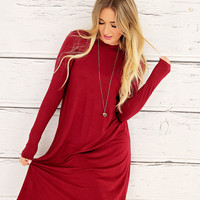 Tunic Dress in Burgundy