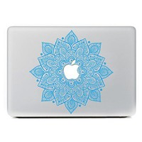 "iCasso Leaves Removable Vinyl Decal Sticker Skin for Apple Macbook Pro Air Mac 13"" inch / Unibody 13 Inch Laptop(Blue)"