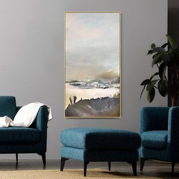 Abstract painting acrylic landscape painting on canvas original art brown extra large huge size wall pictures hand painted quadro Home Decor