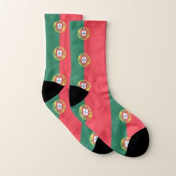 All Over Print Socks with Flag of Portugal