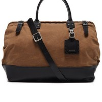 Bonobos Men's Clothing | Sienna Medium Carryall - Coffee & Black