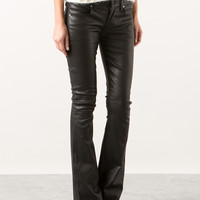 RTA BLACK STRETCH LEATHER PANTS