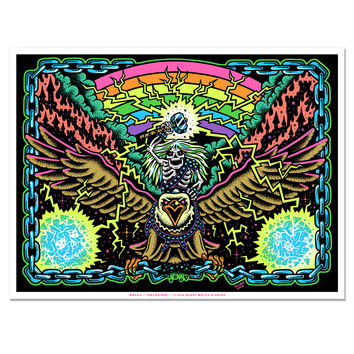 Unchained Blacklight Art Print (Limited Edition)