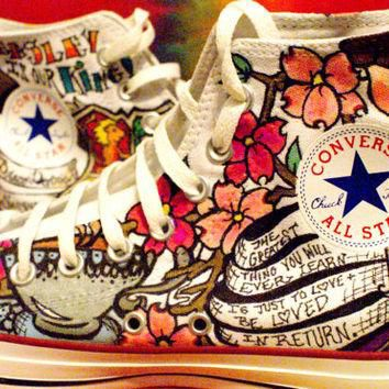 cUstOM pERSOnaliZED CONVERSE HI TOP