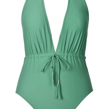 Cupshe Heal Me Halter One-piece Swimsuit