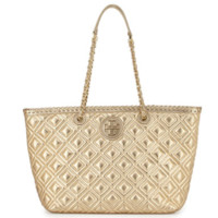 Tory Burch: Marion Quilted Metallic Tote