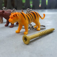 Free Shipping Lions Tigers and Bears OH MY Keychain Set  Great Stocking Stuffer