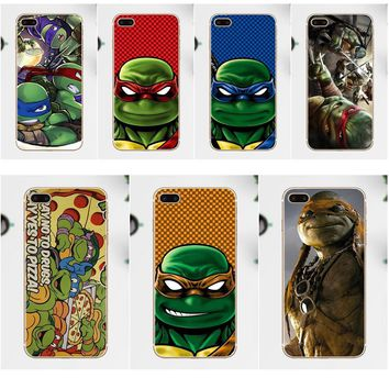 Arkmen TPU Cell Phone Cover Case For Xiaomi Redmi 5 4A 3 3S Pro Mi4 Mi4i Mi4C Mi5 Mi5S Mi Max Mix Note 2 3 4 Plus Ninja Turtles