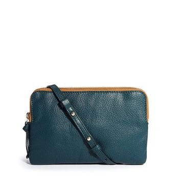 ASOS Leather Double Compartment Cross Body Bag