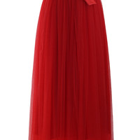 Amore Maxi Tulle Prom Skirt in Red Red