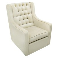 Rockabye Glider Co. Bella Velvet Grand Glider Chair - Buckwheat