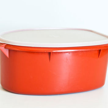 Vintage Tupperware Roast Flavor Saver Ham Keeper Meat Marinating Container, Tupper Ware Ham Turkey Meat Storage Container with Insert