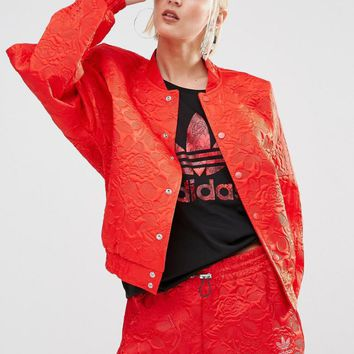 adidas Originals Bonded Lace Oversized Bomber Jacket