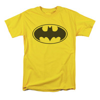 Batman Men's  Black Bat T-shirt Yellow Rockabilia