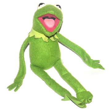 Vintage 1970s Kermit The Frog Felt Velcro Doll, Jim Henson, Fisher Price, Vintage Toys, Antique Alchemy
