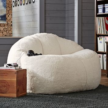 Ivory Sherpa Faux Fur Cloud Couch