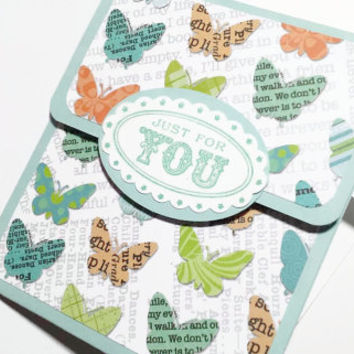 Just For You Gift Card Holder With Envelope, Butterfly Gift Card Holder, Stampin Up All Occasion Gift Card