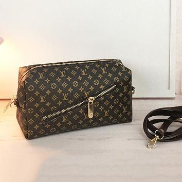 Louis Vuitton LV Fashion New Leather Monogram Cream Check Crossbody Bag Shoulder Bag Women