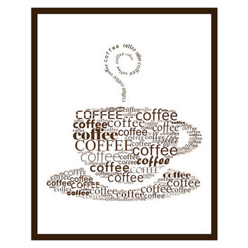 Coffee cup printable - Digital print Coffee art Coffee print Coffee poster Kitchen decor Kitchen art Kitchen wall art Kitchen poster