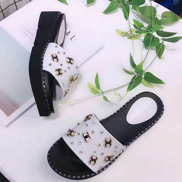One-nice™ CHANEL Casual Fashion Women Sandal Slipper Shoes H-ALXY