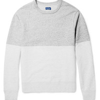 J.Crew - Two-Tone Slubbed Cotton Sweatshirt | MR PORTER