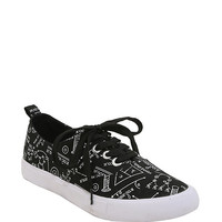 Science Print Lace-Up Sneakers