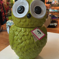 Lime Green Owl Canister