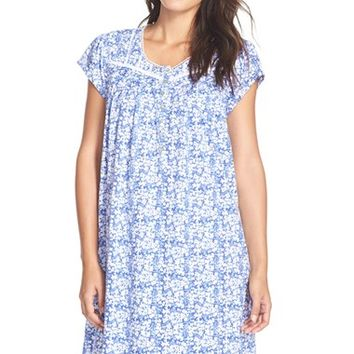 Women's Eileen West 'Mystic' Print Cotton Short Nightgown,