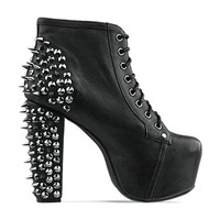 LITA SPIKE -BLACK SILVER  JEFFREY CAMPBELL