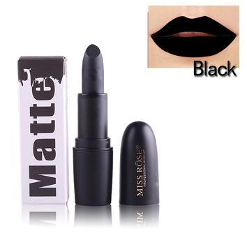 Makeup Red Lips Matte Velvet Lipstick Pencil Cosmetic Long Lasting Lip Tint Pigment Makeup Nude Brown Black Glod Lipstick